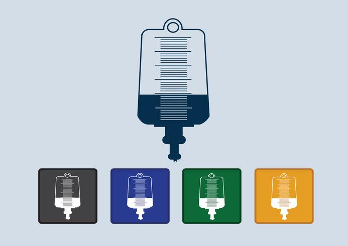Collection of iv bag icon  vector
