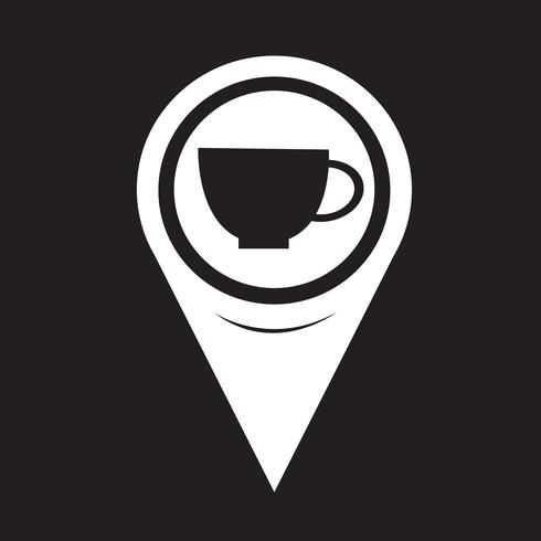 Map Pointer Cup Icon vector