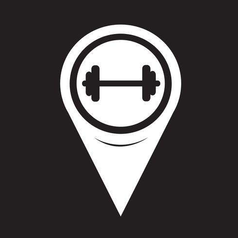 Kaart aanwijzer halter pictogram