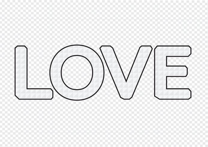 LOVE Font Type for Valentines day card vector
