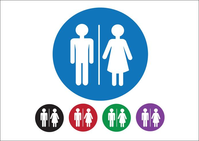 Pictogram Man Woman Sign icons, toilet sign or restroom icon vector