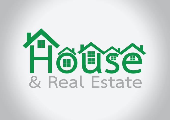 Icono de la casa y diseño abstracto de la construcción de propiedades inmobiliarias