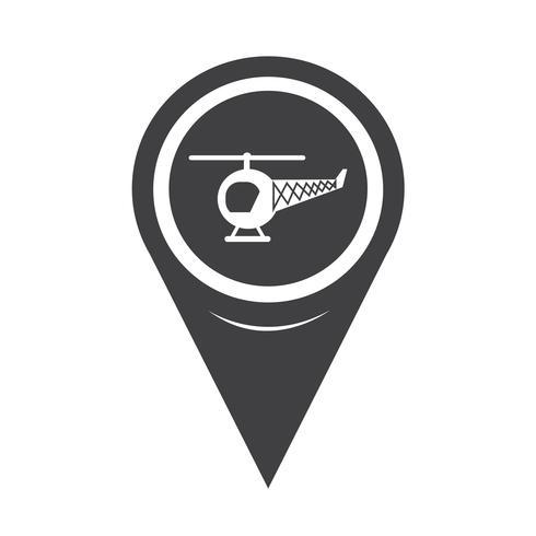 Ícone de helicóptero de ponteiro de mapa