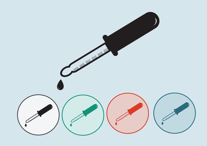 Laboratory equipment icon set vector