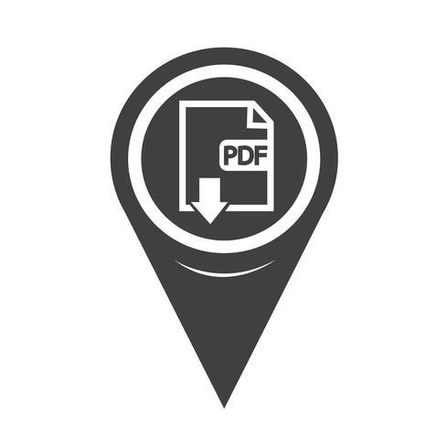 Icono de mapa de puntero PDF