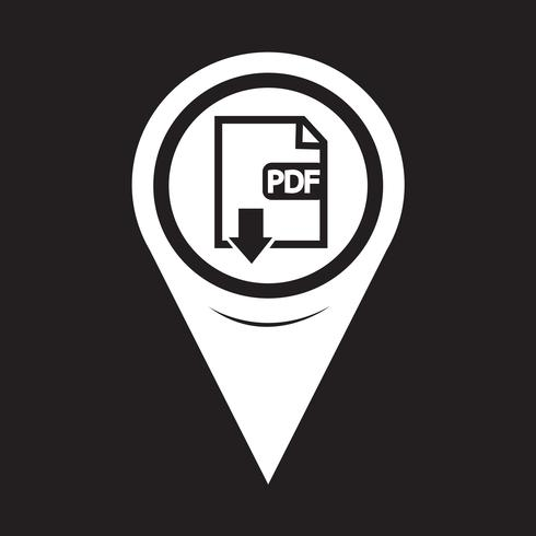 Map Pointer PDF icon vector