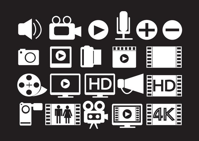Video-Film-Multimedia-Symbole