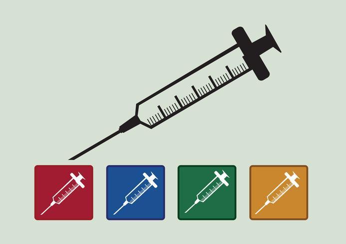 syringe icons set