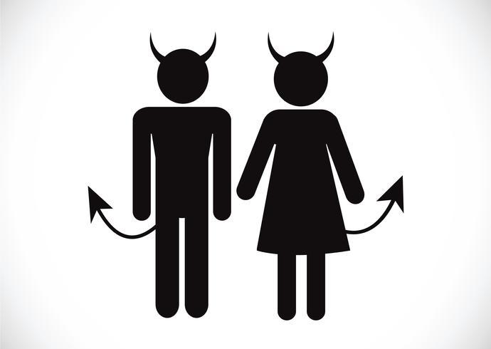 Pittogramma Devil Icon Symbol Sign