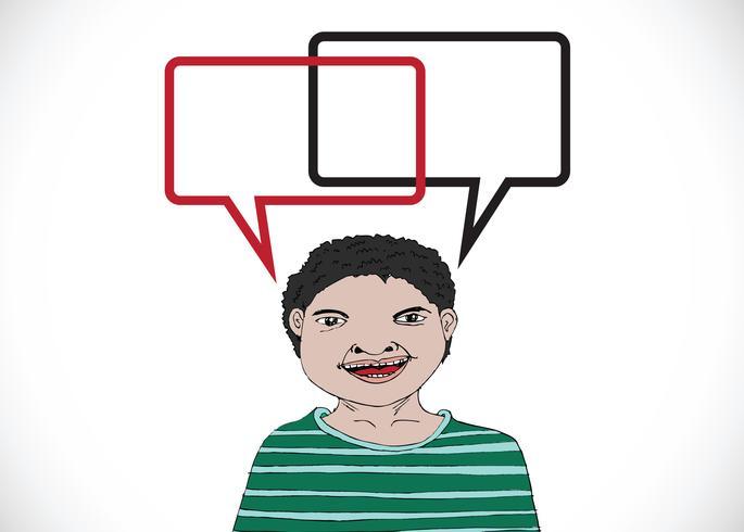 La gente piensa y habla con burbujas de diálogo. vector
