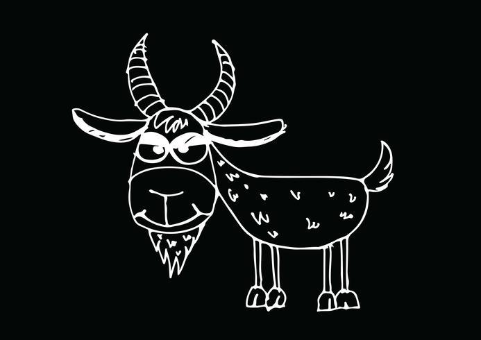 ilustração dos desenhos animados de cabra
