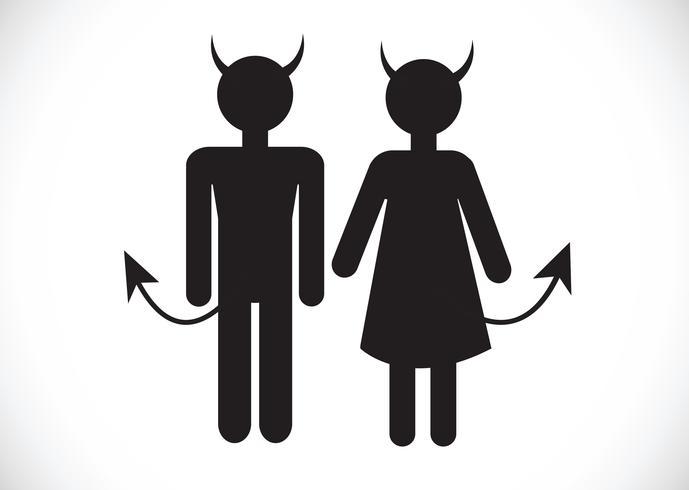 Pictograma diablo icono símbolo signo