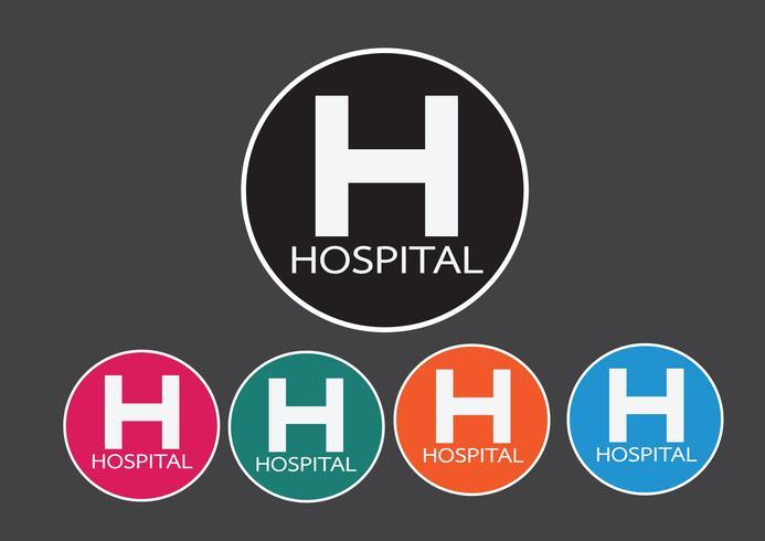 Hospital icon illustration