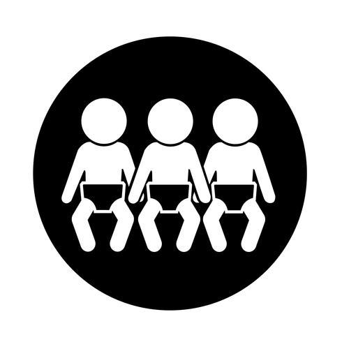 Red de iconos de bebe vector