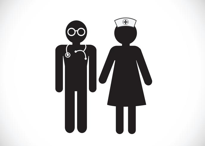 Nurses and doctor  icons