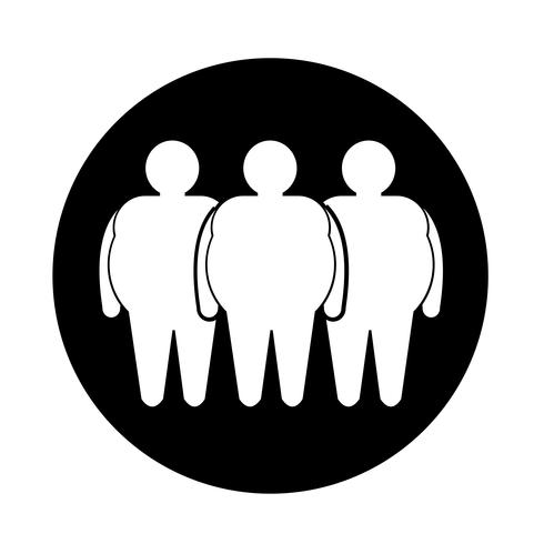 Fat People Icon vector