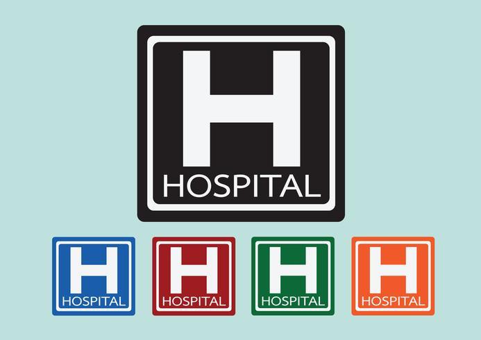 Hospital icon illustration vector