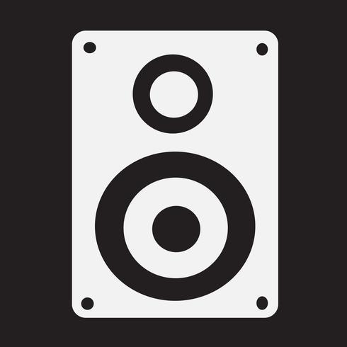 Audio speakers icon vector