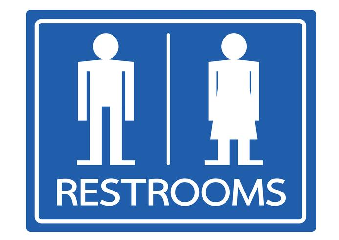 Icona maschile e femmina di simbolo bagno