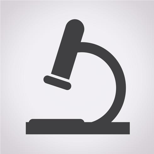 Microscoop pictogram symbool teken