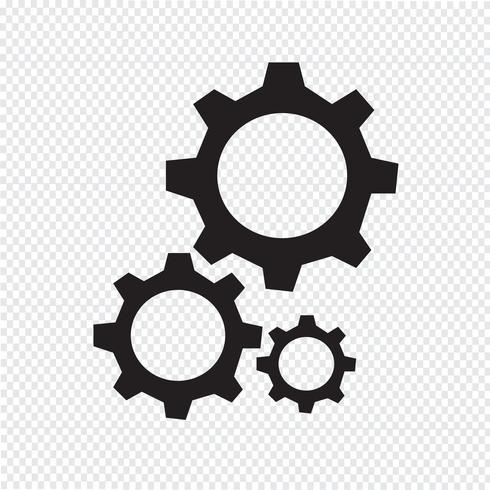 Gear icon  symbol sign vector