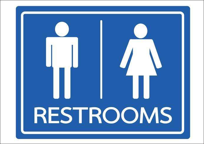 Restroom Symbol männliche und weibliche Ikone