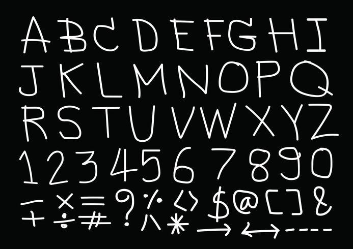 Carattere di lettere disegnate a mano