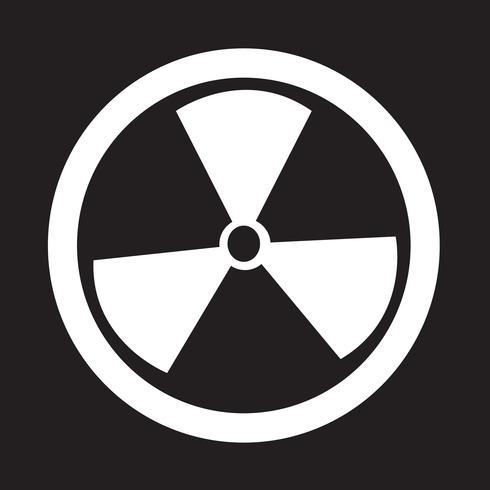 Icône de signe de radioactivité