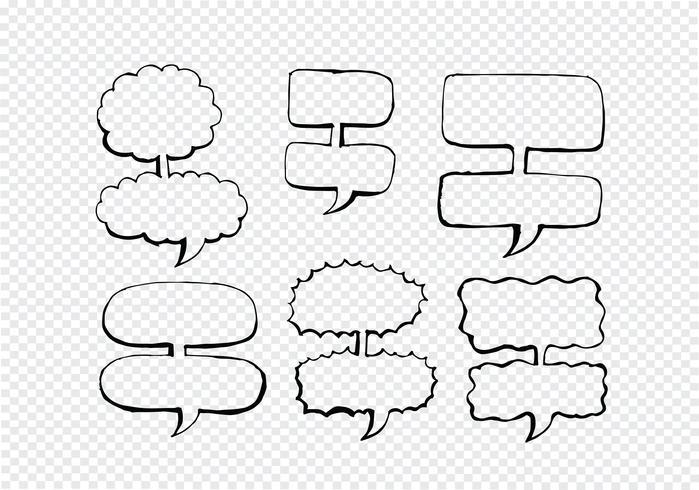 Discours de bulle dessiné main croquis
