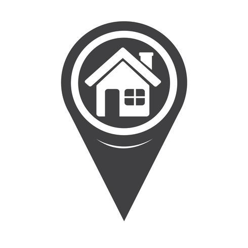 Mapa Pointer Home icon