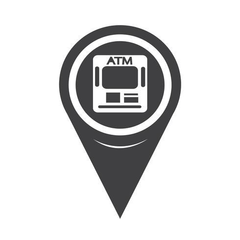 Kartpekaren ATM-ikon vektor