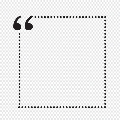 Quote bubble blank vector