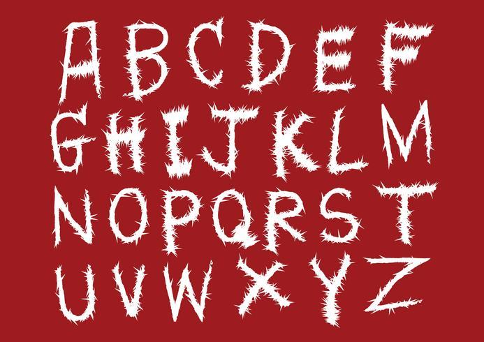 Hand gezeichnetes Buchstabealphabet geschrieben mit Bürste vektor