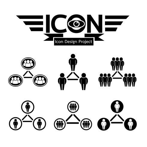 icona della rete di persone vettore