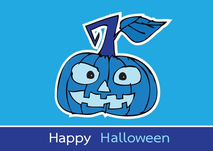 Halloween kort med pumpa