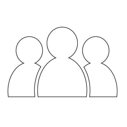 gruppmänniskorsymbol vektor