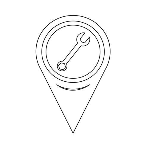 Icono de la llave del puntero del mapa