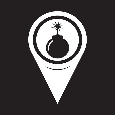 karta pekaren bomb ikon vektor