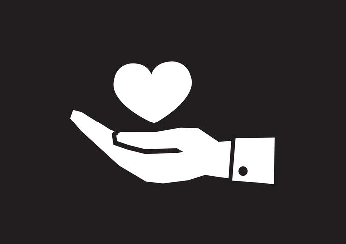 Pictograph hand and heart