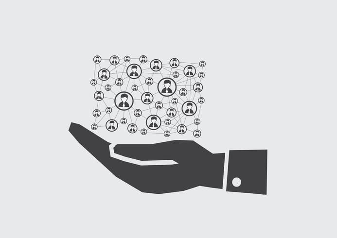 Hand- och nätverksanslutning vektor