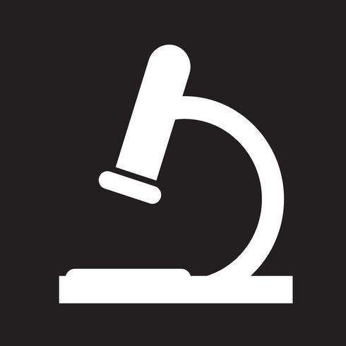 mikroskop ikon symbol tecken vektor