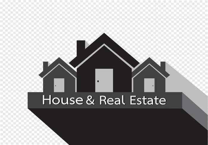 Icono de la casa y diseño abstracto de construcción de bienes raíces