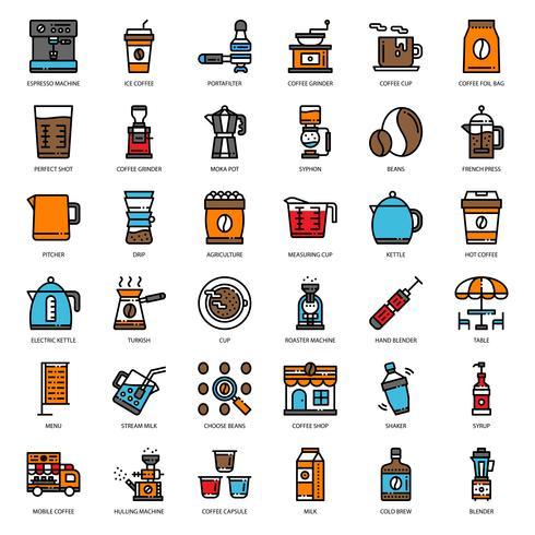 icono de equipo de café vector
