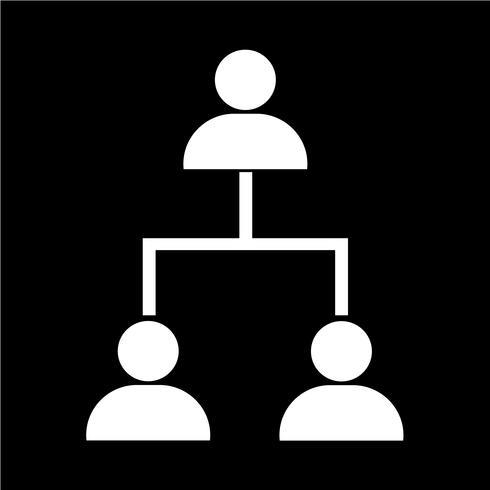 icône de réseau de personnes vecteur