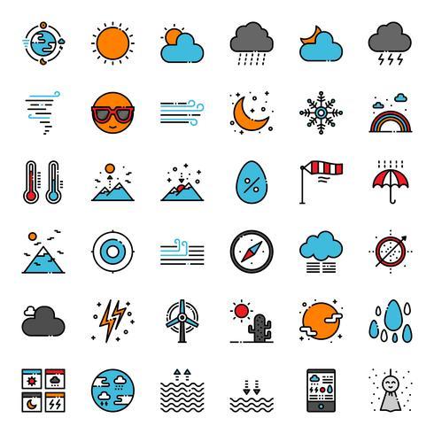 Wettervorhersage Gliederungssymbol vektor