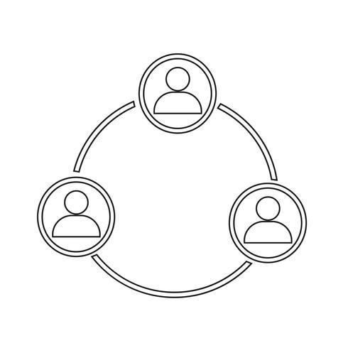 icono de red de personas