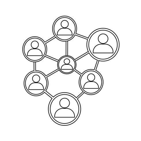 folk nätverk ikon vektor