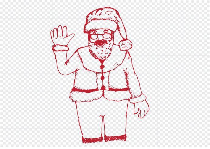 Père Noël pour Noël dessiné à la main