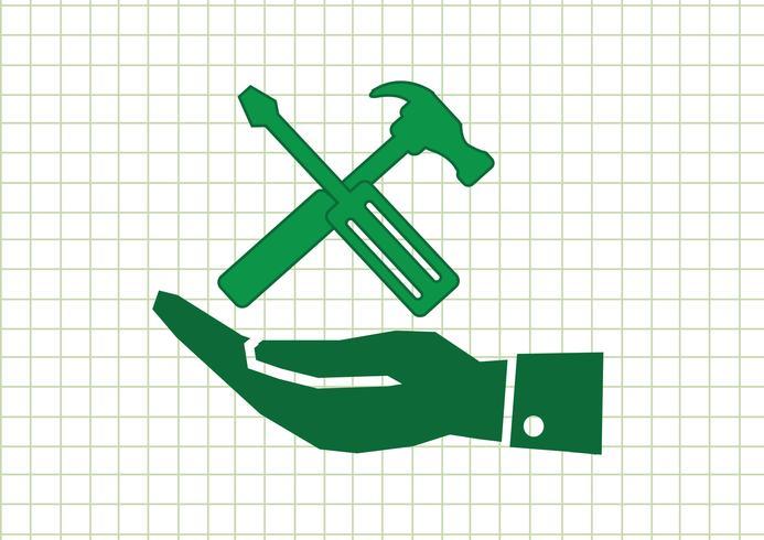Mão e ferramentas martelo ícone
