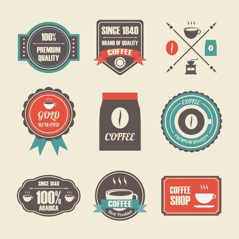 retro kaffe etikett vektor